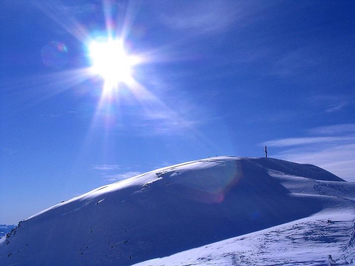 Foto: Andreas Koller / Ski Tour / Von Reinswald auf die Getrumspitze (2589m) / Die Sättlespitze, schon ein schönes Ziel für sich allein / 15.12.2008 02:53:37