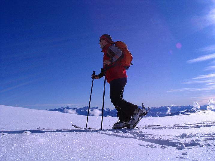 Foto: Andreas Koller / Ski Tour / Von Reinswald auf die Getrumspitze (2589m) / Im SO grüßen die Dolomiten / 15.12.2008 02:52:29