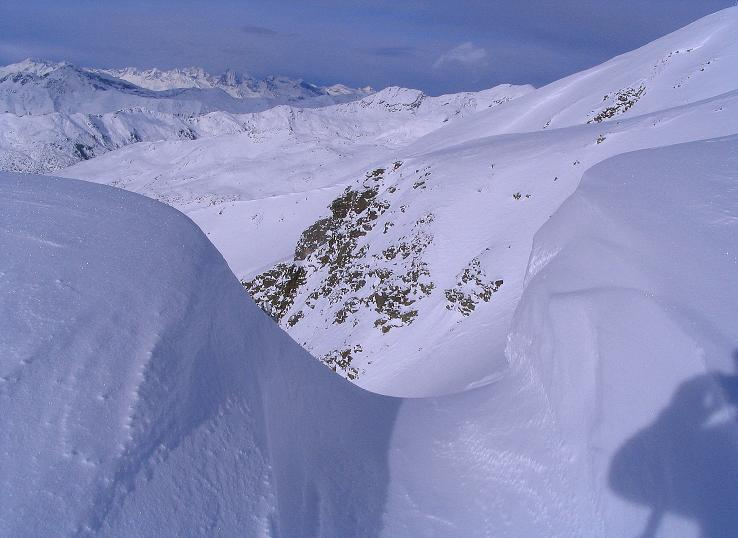 Foto: Andreas Koller / Ski Tour / Von Reinswald auf die Getrumspitze (2589m) / Blick in die Getrumspitz NW-Flanke / 15.12.2008 02:50:36
