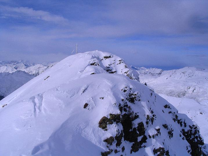 Foto: Andreas Koller / Ski Tour / Von Reinswald auf die Getrumspitze (2589m) / Oft verwechteter Grat zur Getrumspitze / 15.12.2008 02:47:15