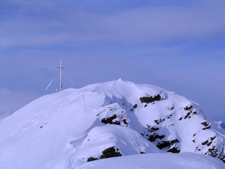 Foto: Andreas Koller / Ski Tour / Von Reinswald auf die Getrumspitze (2589m) / Der Gipfelaufbau der Getrumspitze / 15.12.2008 02:46:51