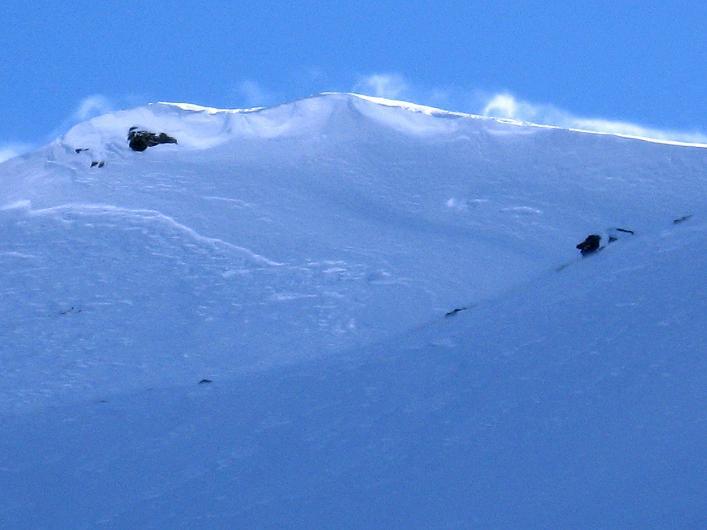 Foto: Andreas Koller / Ski Tour / Vom Durnholzer See auf das Schrotthorn (2590m)  / Überwechtete Fortschellscharte / 16.12.2008 01:25:36