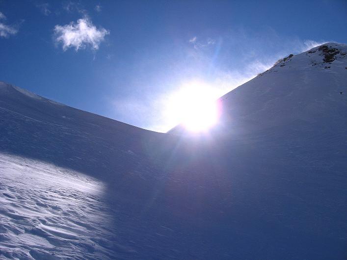 Foto: Andreas Koller / Ski Tour / Vom Durnholzer See auf das Schrotthorn (2590m)  / Die Fortschellscharte / 16.12.2008 01:25:13