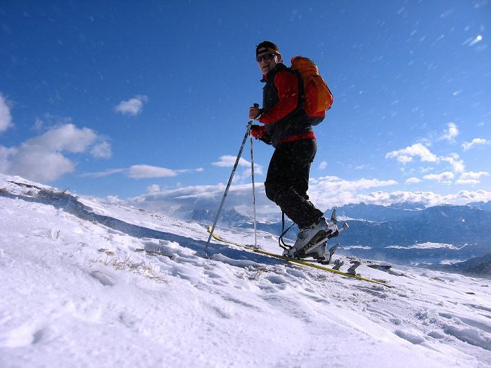 Foto: Andreas Koller / Ski Tour / Vom Durnholzer See auf das Schrotthorn (2590m)  / Aufstieg aus der Fortschellscharte / 16.12.2008 01:23:55
