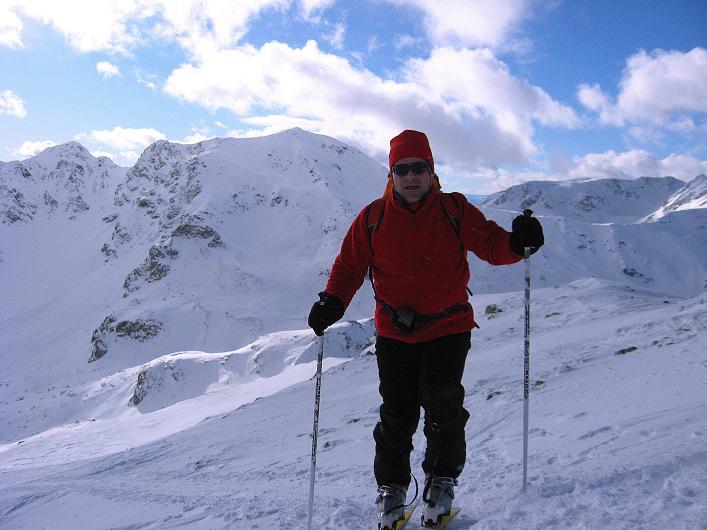 Foto: Andreas Koller / Ski Tour / Vom Durnholzer See auf das Schrotthorn (2590m)  / Anstieg in der SW-Flanke des Plankenhorn mit Kassianspitze (2581 m) im Hintergrund / 16.12.2008 01:19:45