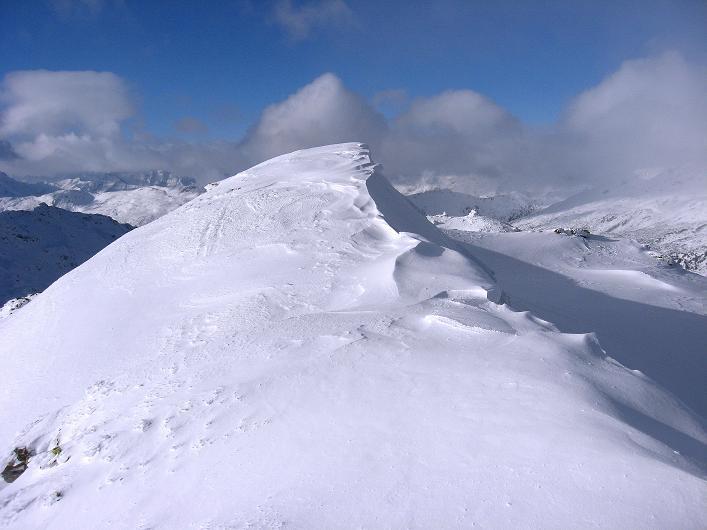 Foto: Andreas Koller / Ski Tour / Vom Durnholzer See auf das Schrotthorn (2590m)  / Der Gipfel des Plankenhorn / 16.12.2008 01:19:00