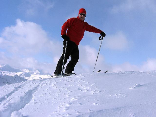 Foto: Andreas Koller / Ski Tour / Vom Durnholzer See auf das Schrotthorn (2590m)  / Am höchsten Punkt des Plankenhorn / 16.12.2008 01:18:29