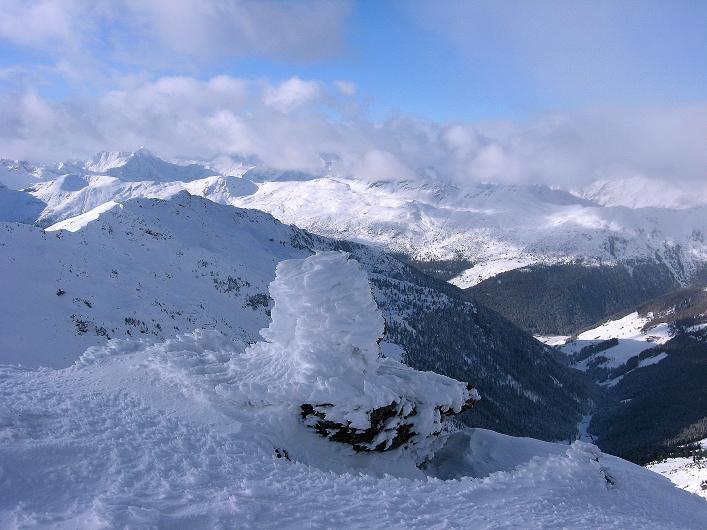 Foto: Andreas Koller / Ski Tour / Vom Durnholzer See auf das Schrotthorn (2590m)  / Blick vom Plankenhorn ins Herz der Sarntaler Alpen / 16.12.2008 01:18:11