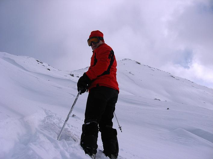 Foto: Andreas Koller / Ski Tour / Vom Durnholzer See auf das Schrotthorn (2590m)  / Abfahrtsgenuss vom Plankenhorn / 16.12.2008 01:15:06