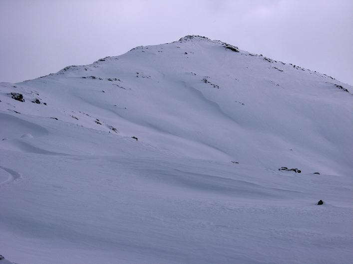 Foto: Andreas Koller / Ski Tour / Vom Durnholzer See auf das Schrotthorn (2590m)  / N-Grat und NW-Flanke des Plankenhorn / 16.12.2008 01:14:43