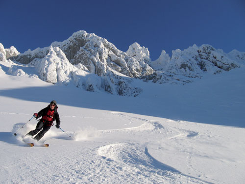 Foto: Kurt Schall / Ski Tour / Hochturm 2081 m, Zirbenkogel 1742 m über den Rötzgraben oder den Edelweißboden / 16.12.2008 10:26:24