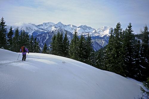 Foto: Kurt Schall / Ski Tour / Vöttleck 1888 m, abseits der Triebener Standardziele / Blick zum Bösenstein / 16.12.2008 12:24:19