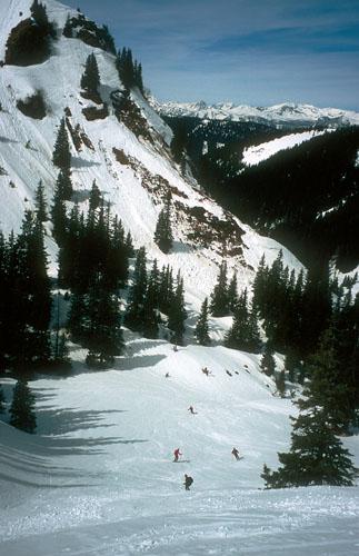 Foto: Kurt Schall / Ski Tour / Schüttkogel 2049 m, Schafzähne 1917 m, Horninger Zinken 1989 m, von Westen / Abfahrt Schüttkogel / 16.12.2008 13:08:13