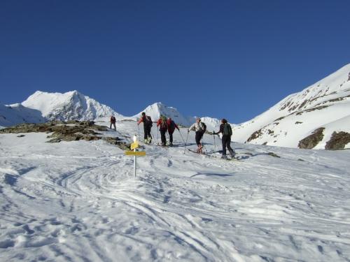 Foto: hofchri / Ski Tour / Rauriser Sonnblick (3106m) und Hocharn (3254m) von Kolm Saigurn / 16.12.2008 21:38:45