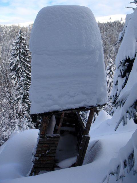 Foto: Manfred Karl / Ski Tour / Vom Satzstein auf das Auhofköpfl / Hochstand am Weg zur Auhofalm / 18.12.2008 08:29:42