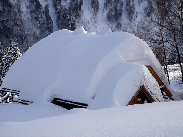 Foto: Manfred Karl / Ski Tour / Vom Satzstein auf das Auhofköpfl / Tiefverschneite Alm / 18.12.2008 08:28:47