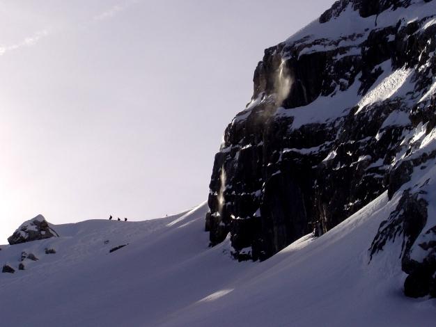 Foto: Manfred Karl / Ski Tour / Von der Wimbachbrücke auf das Dritte Watzmannkind / Aufstieg zum Dritten Kind / 18.12.2008 08:54:21
