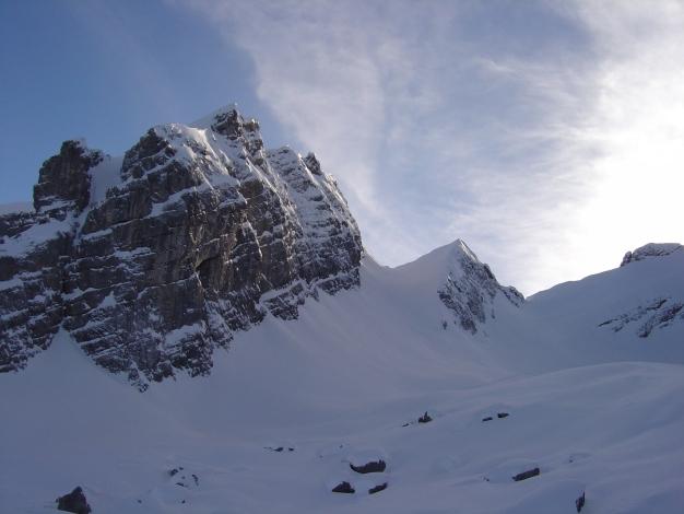 Foto: Manfred Karl / Ski Tour / Von der Wimbachbrücke auf das Dritte Watzmannkind / Viertes, Fünftes Watzmannkind und Schischarte / 18.12.2008 08:50:25