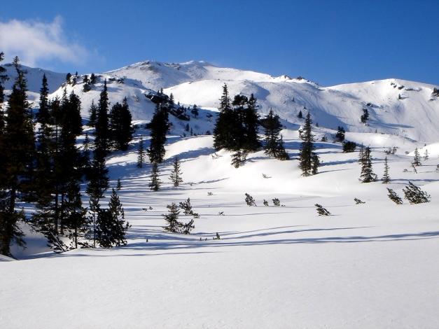 Foto: Manfred Karl / Ski Tour / Zwei leichte Gipfel über dem Kessel der Planneralm / In Bildmitte Karlspitze / 18.12.2008 09:33:21