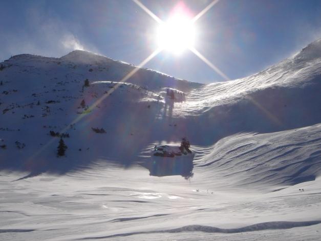 Foto: Manfred Karl / Ski Tour / Zwei leichte Gipfel über dem Kessel der Planneralm / Jochspitze und Goldbachscharte / 18.12.2008 09:30:00