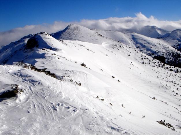 Foto: Manfred Karl / Ski Tour / Zwei leichte Gipfel über dem Kessel der Planneralm / Ein Teil des Gratanstieges  zur Karlspitze / 18.12.2008 09:26:10