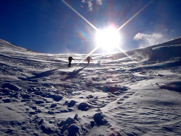 Foto: Manfred Karl / Ski Tour / Zwei leichte Gipfel über dem Kessel der Planneralm / Aufstieg zur Goldbachscharte / 18.12.2008 09:22:16