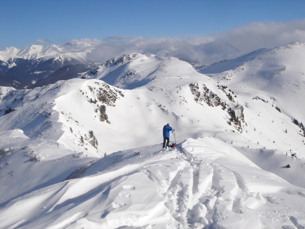 Foto: Manfred Karl / Ski Tour / Zwei leichte Gipfel über dem Kessel der Planneralm / Jochspitze / 18.12.2008 09:21:06