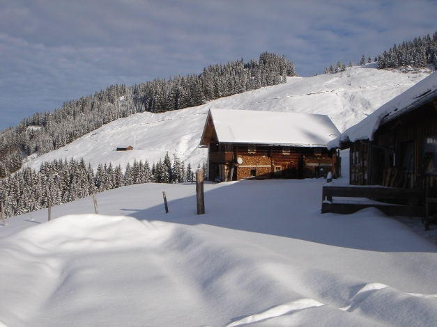 Foto: Manfred Karl / Ski Tour / Aus dem Windautal auf das Gerstinger Joch / Scheibenschlag Niederalm / 18.12.2008 10:57:46