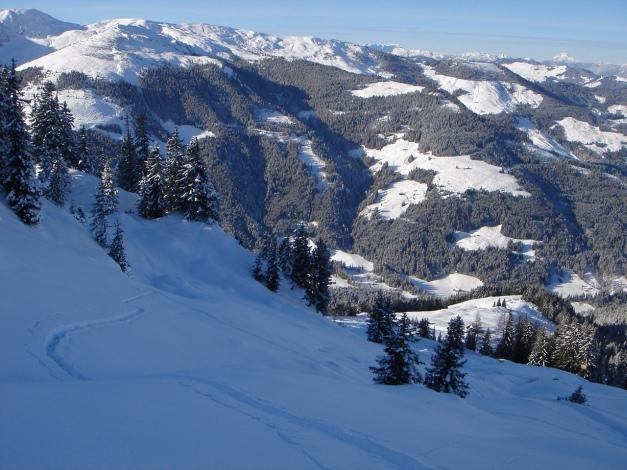Foto: Manfred Karl / Ski Tour / Aus dem Windautal auf das Gerstinger Joch / Anstrengende Spurarbeit oberhalb der Alm / 18.12.2008 10:54:10
