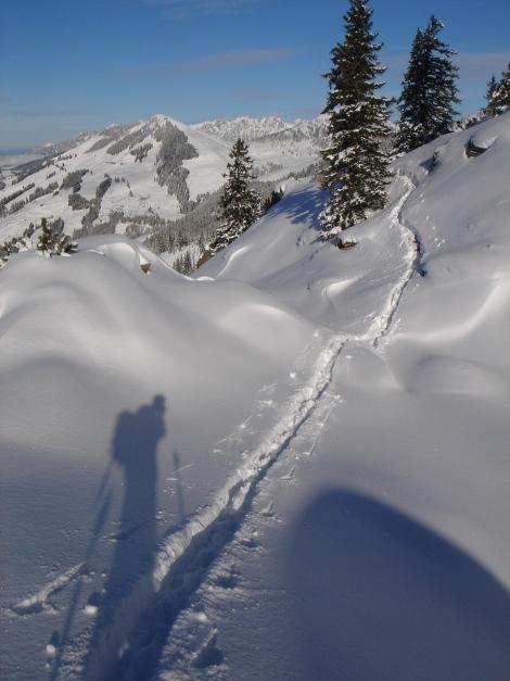 Foto: Manfred Karl / Ski Tour / Aus dem Windautal auf das Gerstinger Joch / Blick zum Fleiding / 18.12.2008 10:53:38