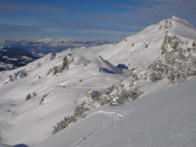 Foto: Manfred Karl / Ski Tour / Aus dem Windautal auf das Gerstinger Joch / Landschaftlich schöner Übergang zum Hauptgipfel / 18.12.2008 10:48:22