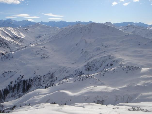 Foto: Manfred Karl / Ski Tour / Aus dem Windautal auf das Gerstinger Joch / Blick über den Tanzkogel zu den Hohen Tauern / 18.12.2008 10:45:31
