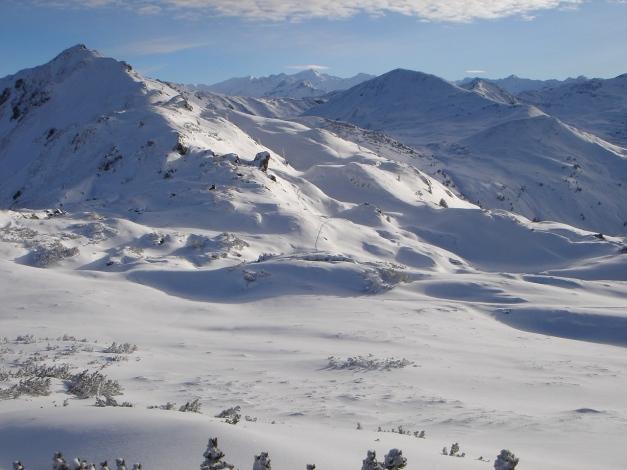 Foto: Manfred Karl / Ski Tour / Aus dem Windautal auf das Gerstinger Joch / Rückblick vom Vorgipfel, links hinter der Kuppe befindet sich der Hauptgipfel / 18.12.2008 10:34:56