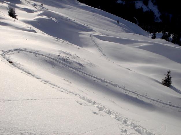 Foto: Manfred Karl / Ski Tour / Aus dem Windautal auf das Gerstinger Joch / Aufstiegsspur / 18.12.2008 10:34:17