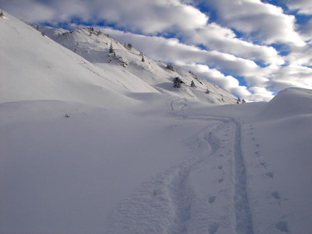 Foto: Manfred Karl / Ski Tour / Aus dem Windautal auf das Gerstinger Joch / Kurz unterhalb des Vorgipfels / 18.12.2008 10:33:38