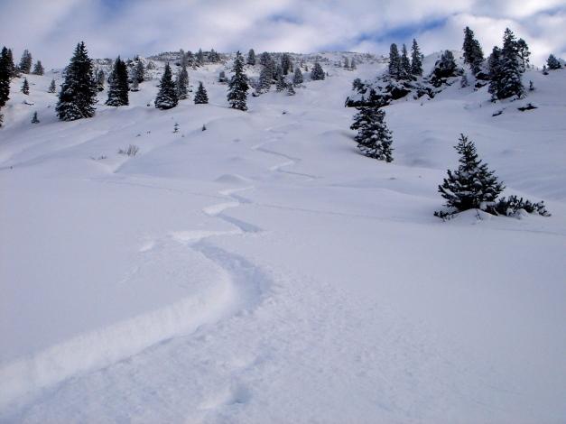Foto: Manfred Karl / Ski Tour / Aus dem Windautal auf das Gerstinger Joch / Traumpulver im oberen Teil / 18.12.2008 10:33:13