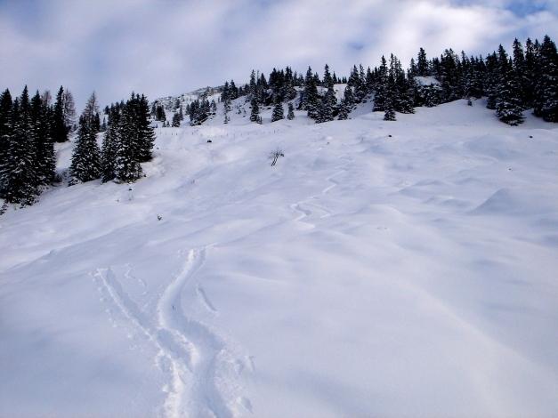 Foto: Manfred Karl / Ski Tour / Aus dem Windautal auf das Gerstinger Joch / Die schönen Hänge oberhalb der Alm / 18.12.2008 10:32:45