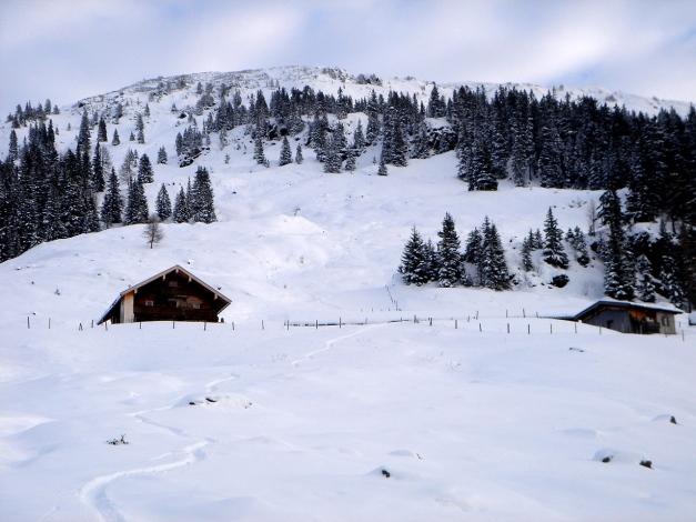 Foto: Manfred Karl / Ski Tour / Aus dem Windautal auf das Gerstinger Joch / Bei der Scheibenschlag Niederalm / 18.12.2008 10:32:21