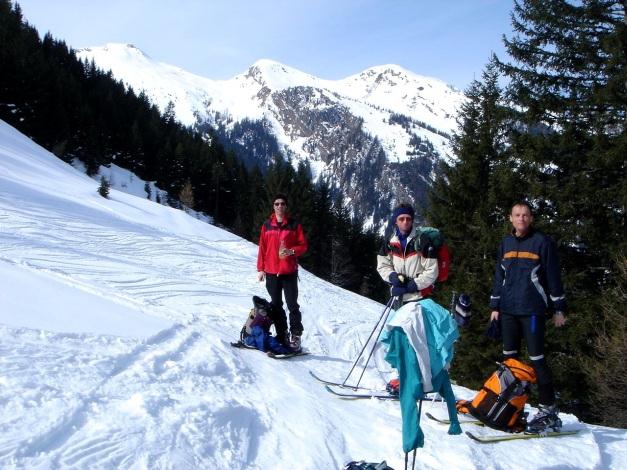 Foto: Manfred Karl / Ski Tour / Über das Kreekar auf das Schöderhorn / Rast bei der Kreealm / 18.12.2008 11:26:49