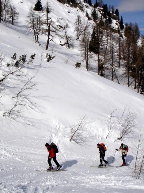 Foto: Manfred Karl / Ski Tour / Über das Kreekar auf das Schöderhorn / Am Beginn des Kreekares / 18.12.2008 11:26:08