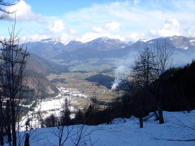 Foto: Manfred Karl / Ski Tour / Über die Laufener Hütte auf den Bleikogel / Am Beginn des Kares / 18.12.2008 12:22:43