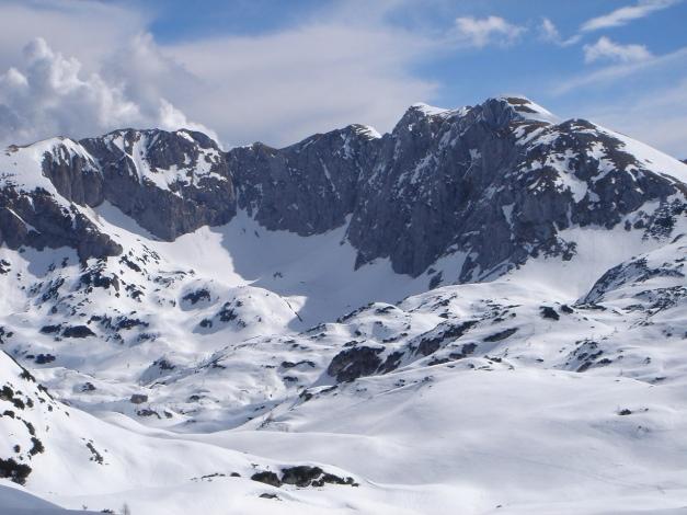 Foto: Manfred Karl / Ski Tour / Über die Laufener Hütte auf den Bleikogel / Der Kamm Tagweide - Hochkarfelderkopf / 18.12.2008 12:19:05