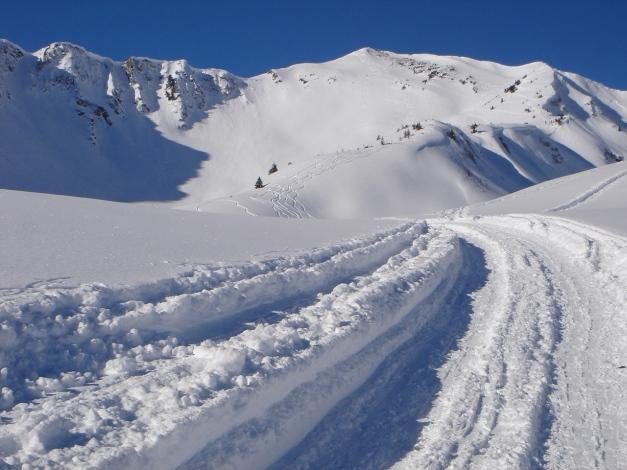 Foto: Manfred Karl / Ski Tour / Drei leichte Schigipfel über der Schwarzwasserhütte / Spritztour von der Schwarzwasserhütte: Das Steinmandl / 18.12.2008 17:04:06