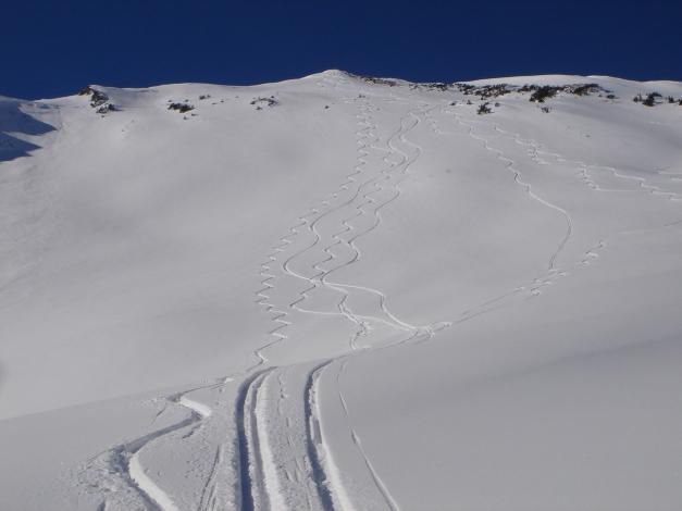 Foto: Manfred Karl / Ski Tour / Drei leichte Schigipfel über der Schwarzwasserhütte / Schöne Schihänge vom Steinmandl / 18.12.2008 17:02:29