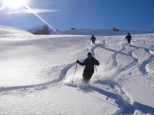Foto: Manfred Karl / Ski Tour / Drei leichte Schigipfel über der Schwarzwasserhütte / Herrliche Abfahrt vom Hählekopf / 18.12.2008 16:58:41