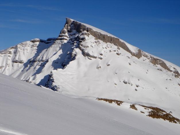 Foto: Manfred Karl / Ski Tour / Drei leichte Schigipfel über der Schwarzwasserhütte / Hoher Ifen vom Berlingersköpfle / 18.12.2008 16:49:28