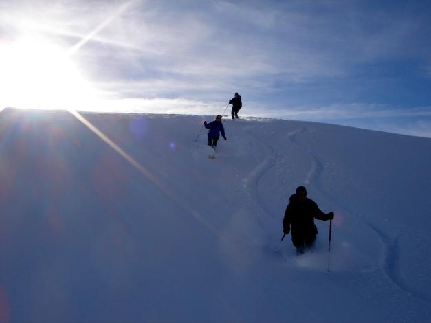 Foto: Manfred Karl / Ski Tour / Drei leichte Schigipfel über der Schwarzwasserhütte / Unterhalb der Ifersguntalpe / 18.12.2008 16:46:43