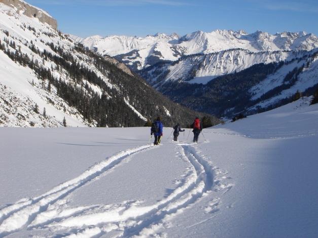 Foto: Manfred Karl / Ski Tour / Drei leichte Schigipfel über der Schwarzwasserhütte / Stellenweise sind die Hänge bei viel Schnee etwas zu flach / 18.12.2008 16:46:07