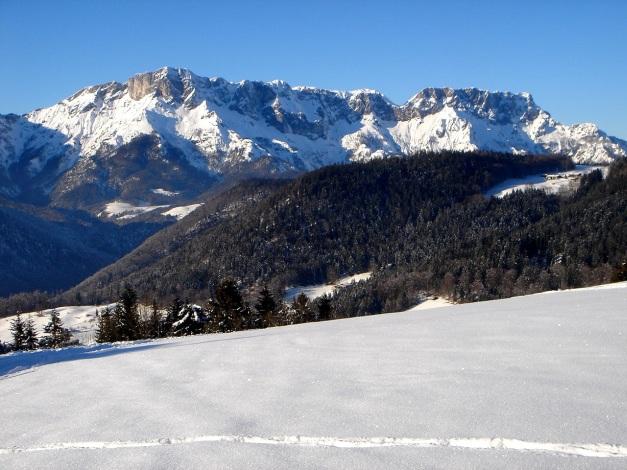 Foto: Manfred Karl / Ski Tour / Von Oberau auf das Roßfeld / Untersberg Südseite / 18.12.2008 18:08:11
