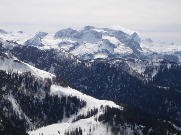 Foto: Manfred Karl / Ski Tour / Jenner, 1874 m / Blick über die Hohen Roßfelder gegen den Funtenseetauern / 18.12.2008 18:26:49